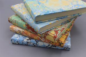 Squared Marbled Paper Notebooks